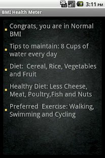 BMI Health Meter Lite - screenshot thumbnail