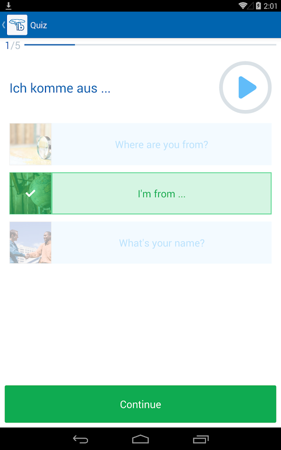 Learn German with busuu - screenshot