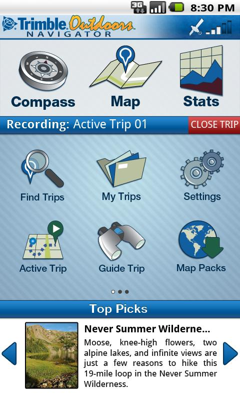 Trimble Outdoors Navigator - screenshot