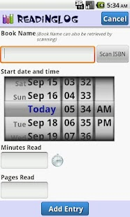 Reading Log- screenshot thumbnail