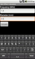 Screenshot of Skin Effect Calculator