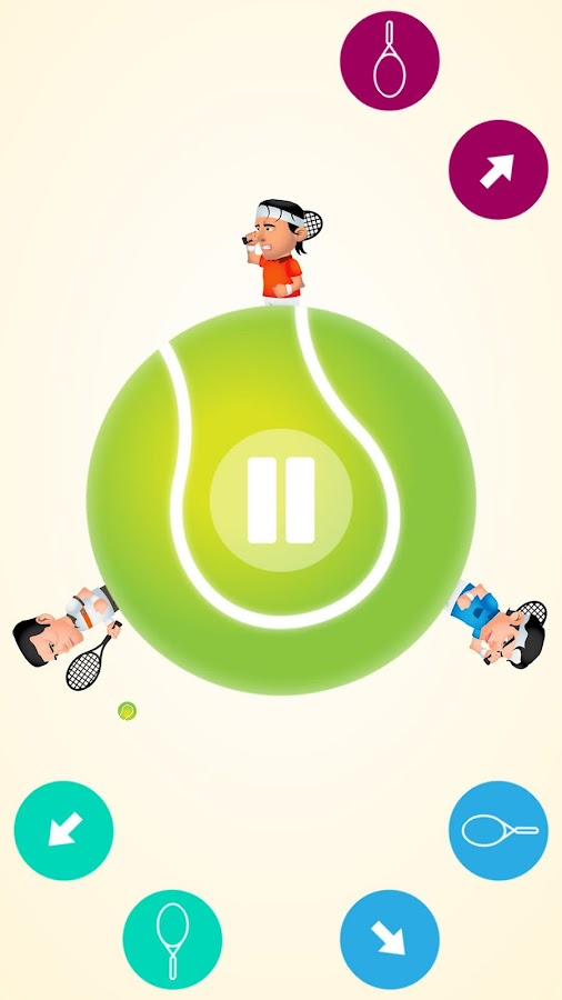 Circular Tennis 2 Player Games- screenshot