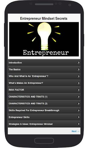 Entrepreneur Mindset Secrets