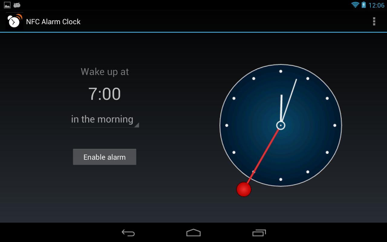 NFC Alarm Clock- screenshot