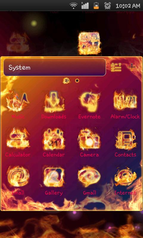 Fire Theme - screenshot