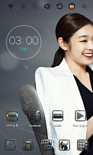 팜므스타 김연아 런처플래닛 테마