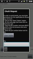 Screenshot of Offline Tweet