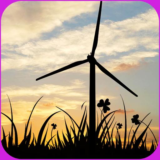 夕陽風車動態壁紙 LOGO-APP點子