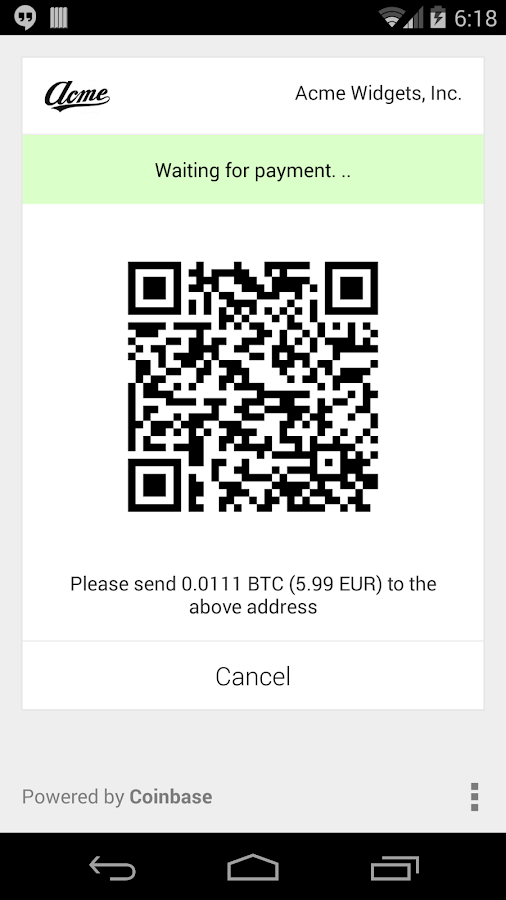 Coinbase Merchant - screenshot
