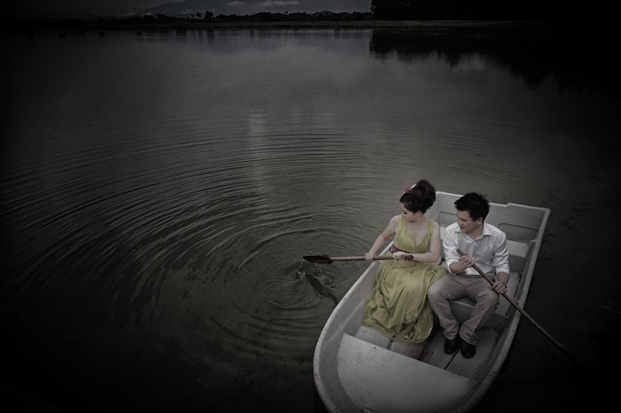 On The Lake by Tim Chong - Wedding Bride & Groom