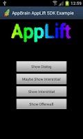 Screenshot of AppBrain SDK demo