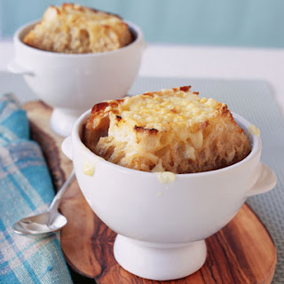 Onion Soup with Loads of Thyme and Giant GruyèRe Crostini Recipe