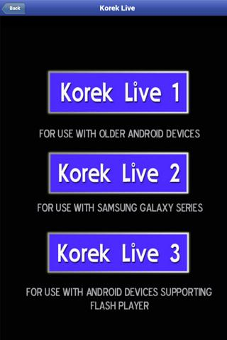 Korek TV - screenshot