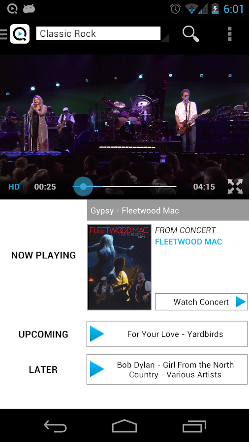 Qello Concerts - screenshot
