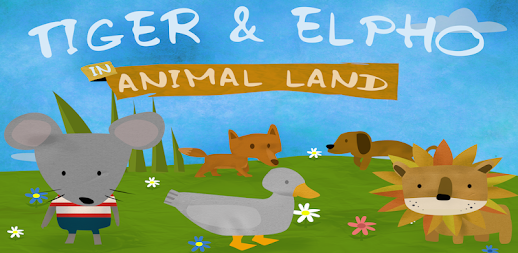 Tiger & Elpho in animal land - game box for kids APK