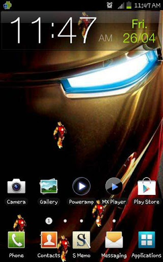 iron man 3 live wallpaper hd flying iron man 3 lwp is a live wallpaper