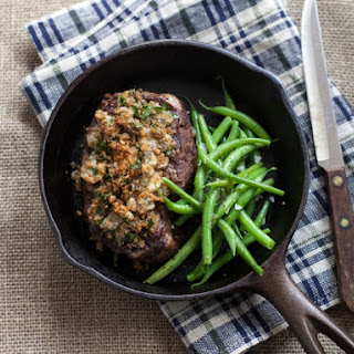 Planked Beef Fillet with Spiced Blue Cheese