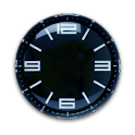 Modern Black Clock Wiget icon