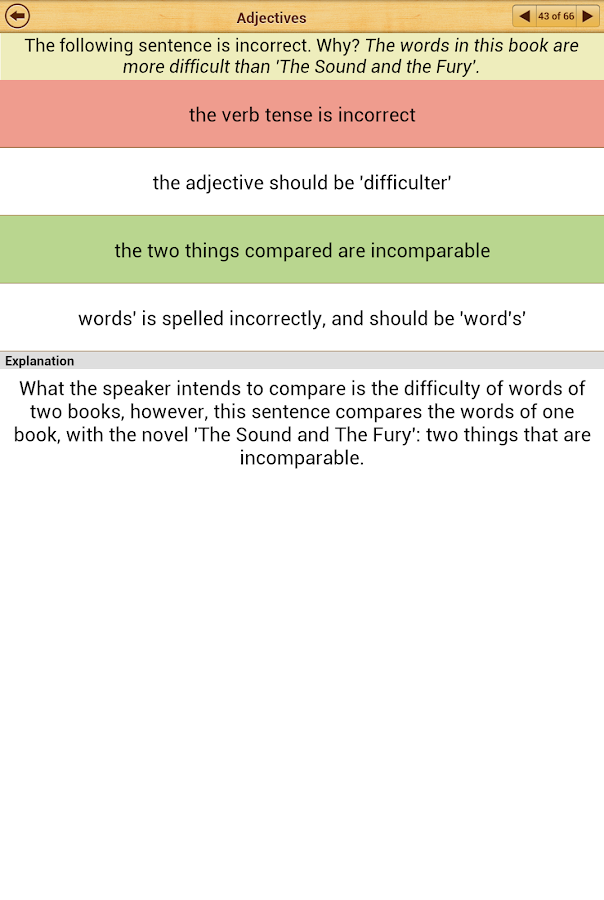 Grammar : Parts of Speech - screenshot