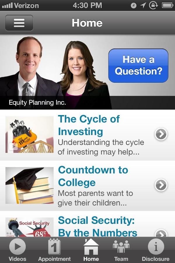 EQ Planning - screenshot