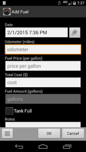 fillup gas mileage log apps on google play