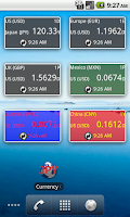 Screenshot of Currencies Quote Widget