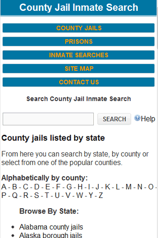 County Jail Inmate Search Screenshot