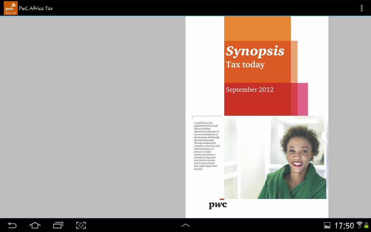 PwC Africa TAX - screenshot