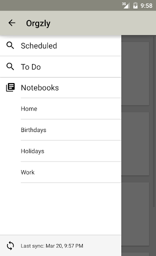 Orgzly: Notes To-Do Lists