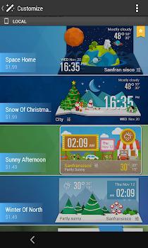 Simple Fancy Clock Weather