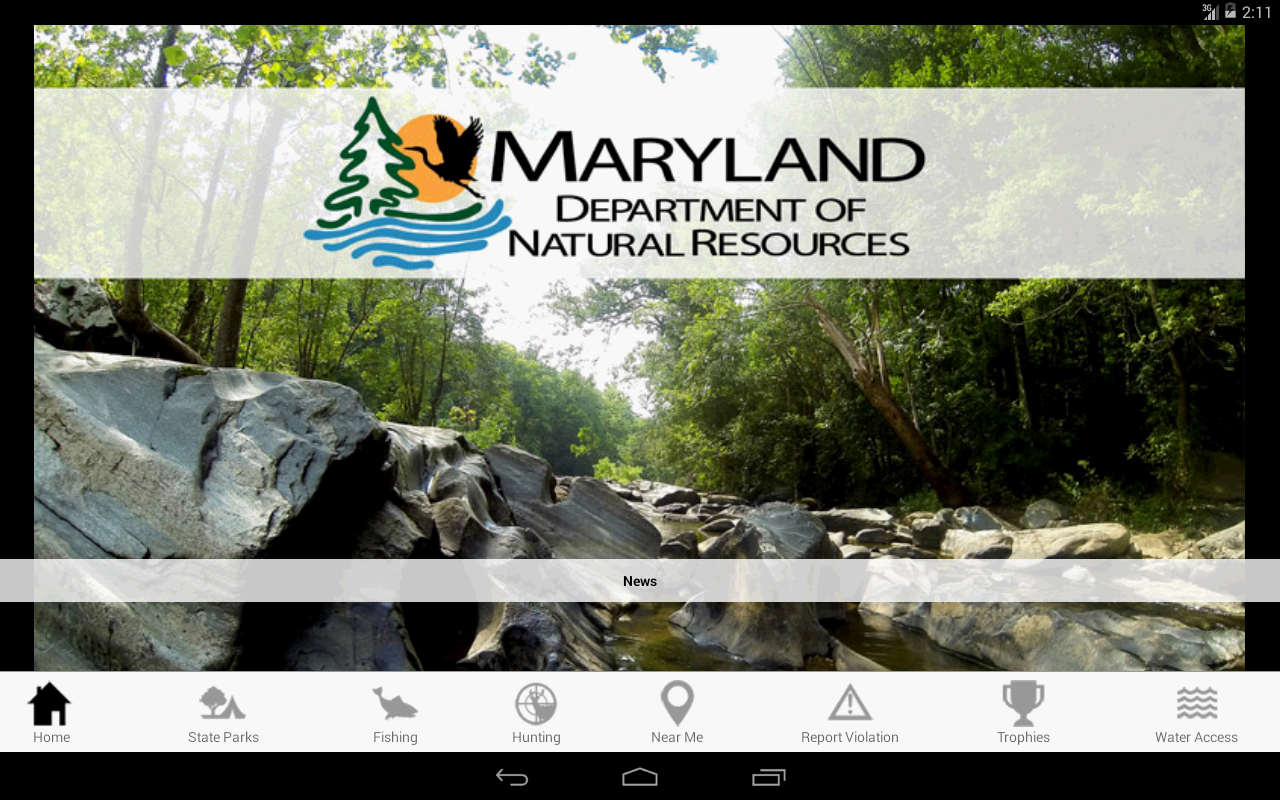 Maryland Access DNR- screenshot