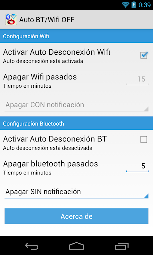 Auto BT Wifi OFF