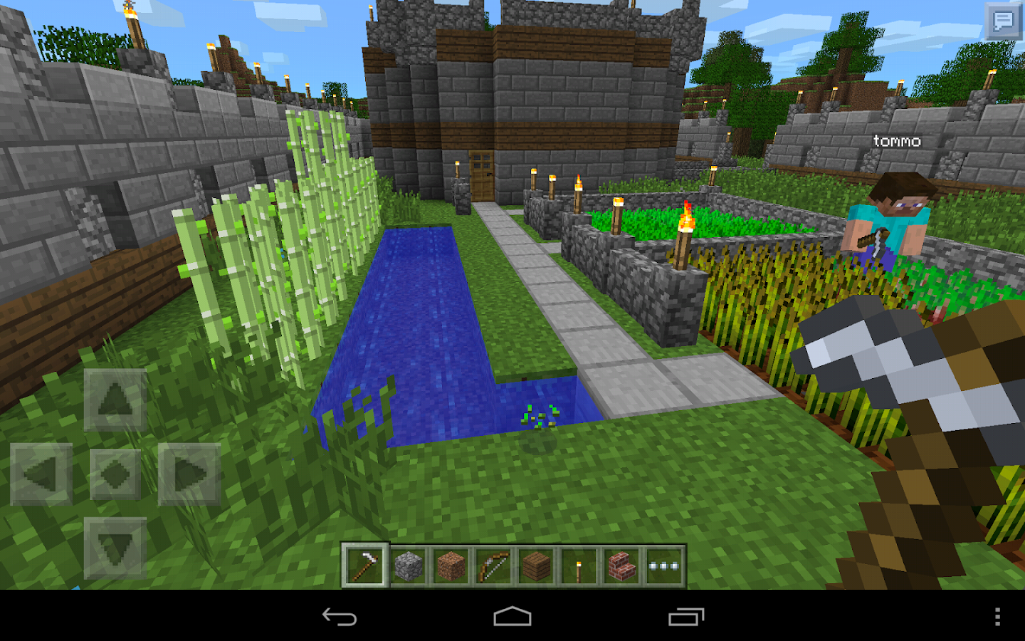 minecraft pe how to take a screenshot