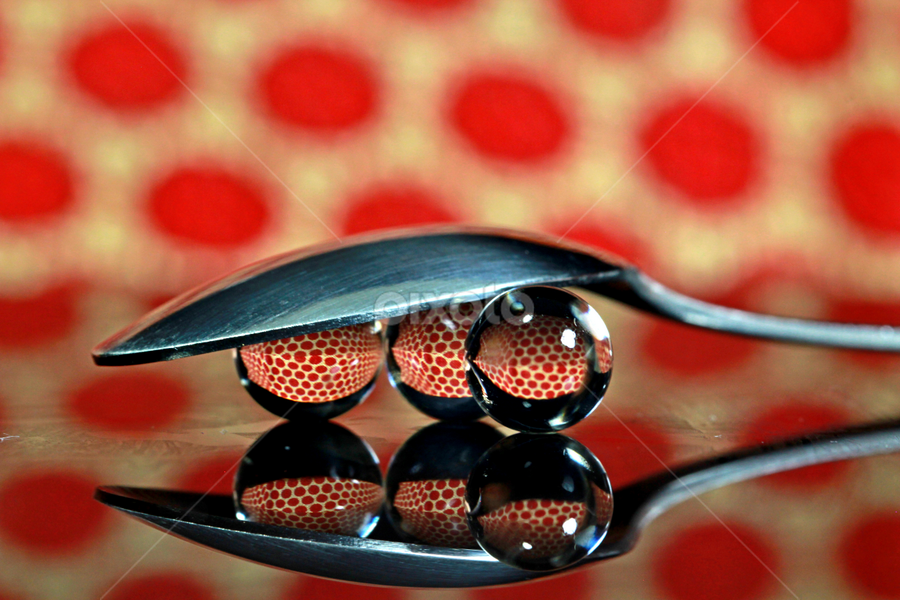 by Dipali S - Artistic Objects Other Objects ( reflection, red, spoons, polka, spheres, dots )