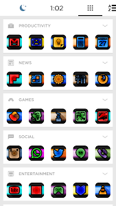 Swirl Black Icon Pack Theme v1.0.0