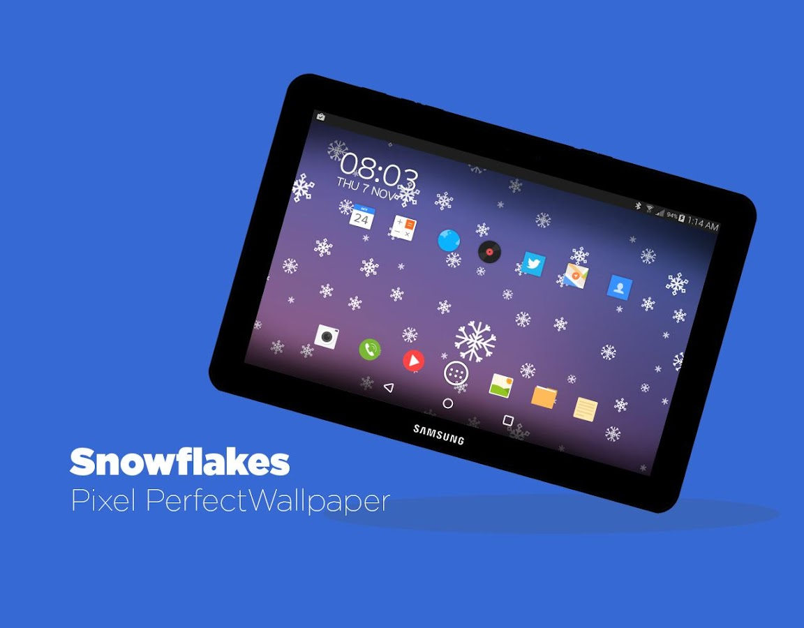 Snowflakes Live Wallpaper HD - screenshot