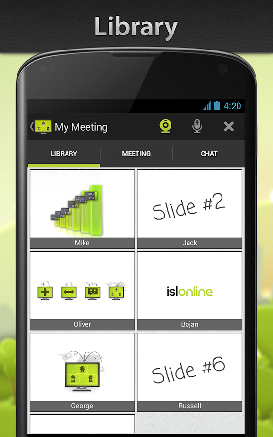 ISL Groop - Online Meetings - screenshot