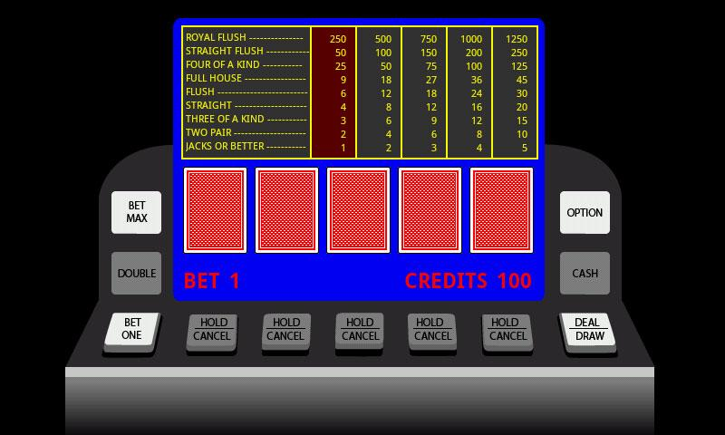 Poker Video Machine - screenshot