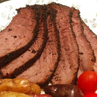 Coffee & Chipotle Crusted London Broil.
