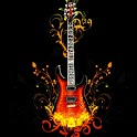 3D lovely Guitar logo