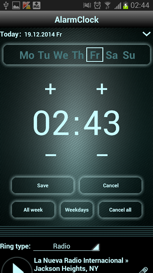 radio alarm clock pro android apps on google play. Black Bedroom Furniture Sets. Home Design Ideas