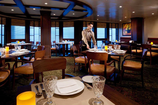 Rhapsody-of-the-Seas-Giovannis-Table - Giovanni's Table, on deck 6 of Rhapsody of the Seas, is a popular Italian trattoria serving family-style dishes for lunch and dinner. Reservations are recommended.