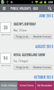 Australian Public Holidays - screenshot thumbnail