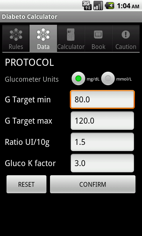 DIABETooL Insulin Calc - screenshot