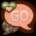 GO SMS THEME/PeachyLeopard icon