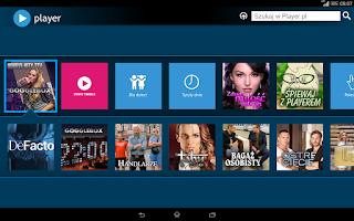 Screenshot of player (tablet)
