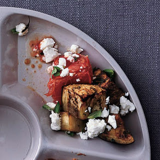 Herb-Roasted Eggplant with Tomatoes and Feta.