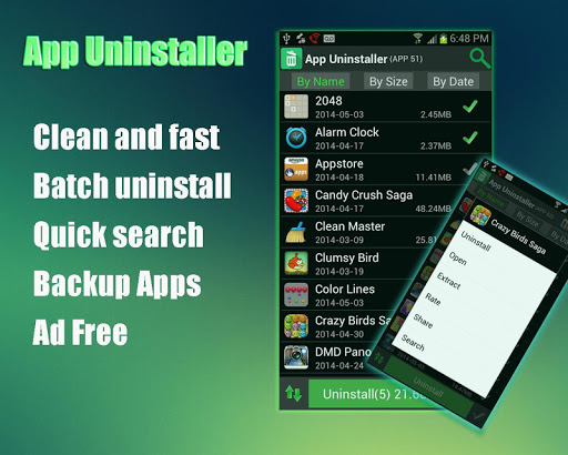 App Uninstaller and App Backup
