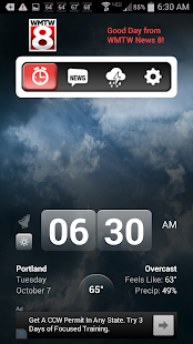 Alarm Clock WMTW 8 Portland - screenshot thumbnail