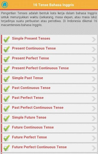 16 Tenses Bahasa Inggris